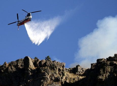Reader Kristen Peterson, who lives near the Seaman Fire, provided this photo of the firefighting efforts.