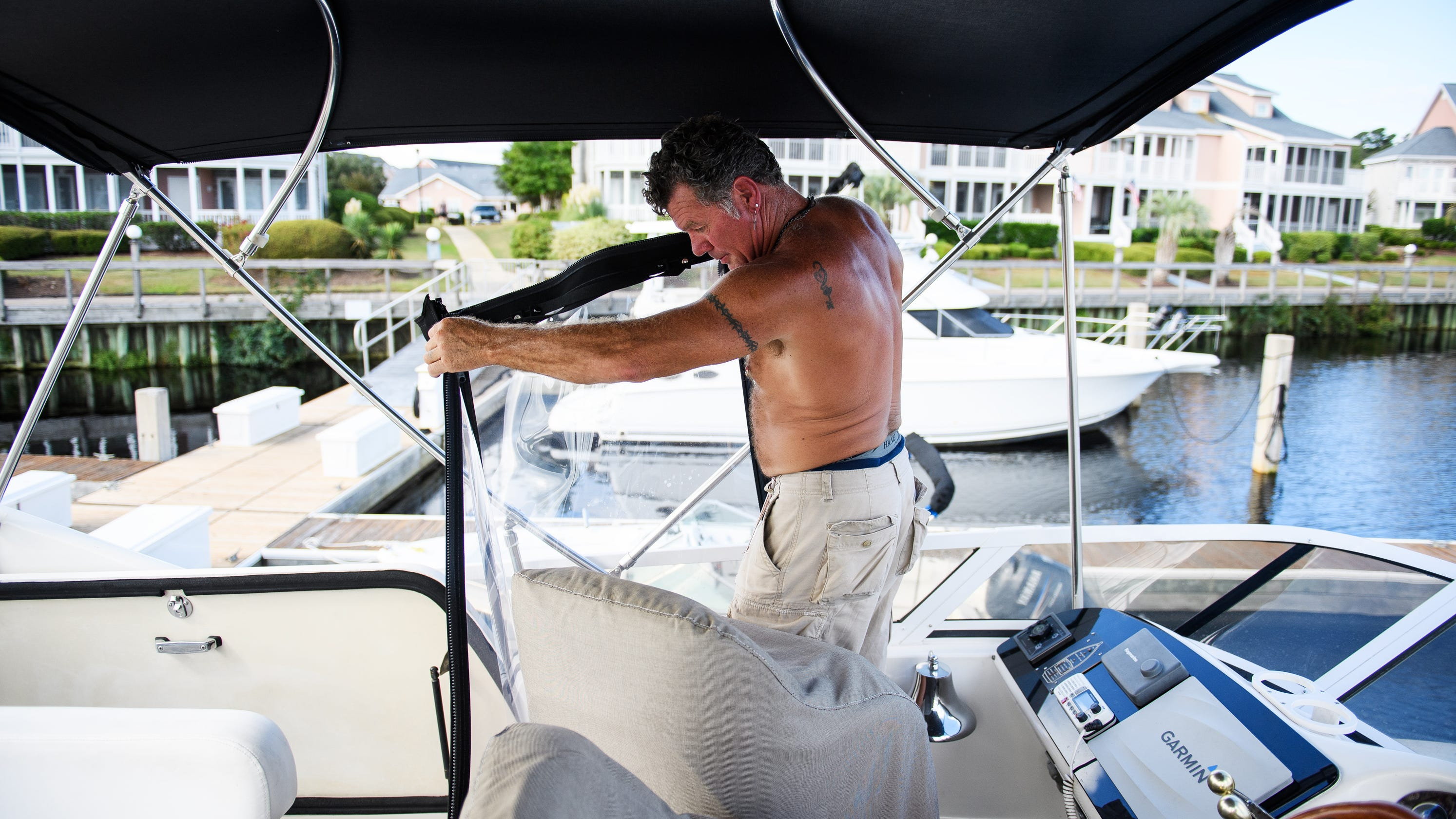 Tropical Storm Florence: Man survives the hurricane on his boat