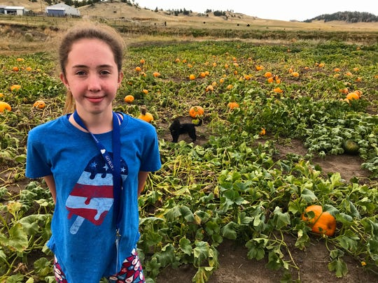 Cadence Kallenberger grew hundreds of pumpkins on Bullhook Road south of Havre. She's selling them at a pick-your-own pumpkin event Sept. 15-16.