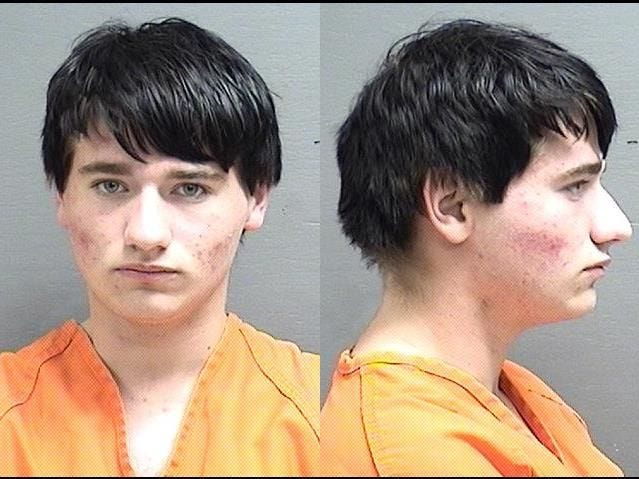 "Baldwin, Joseph Garrett:  19 yoa, white male, 5'9"", 165 pounds, black hair, blue eyes, wanted on:  Failure to Register as a Sexual Offender, felony, total bond $10,000"