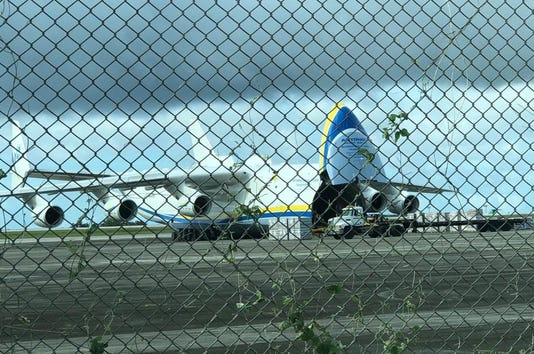 Largest aircraft lands on Guam