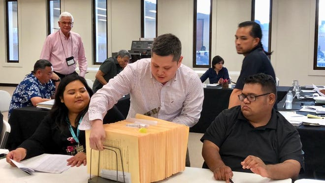 Review of 144 absentee and provisional ballots start Wednesday night at Guam Election Commission office, before tabulation and certification of Aug. 25 primary and special election results.
