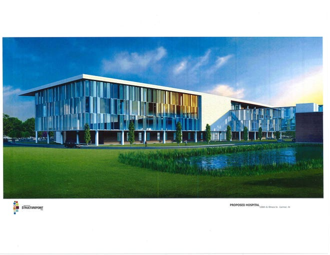 Artist rendering of new Franciscan Health orthopedics hospital planned for Carmel.