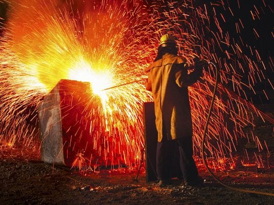 Tariffs benefit Indiana's steel production industry.