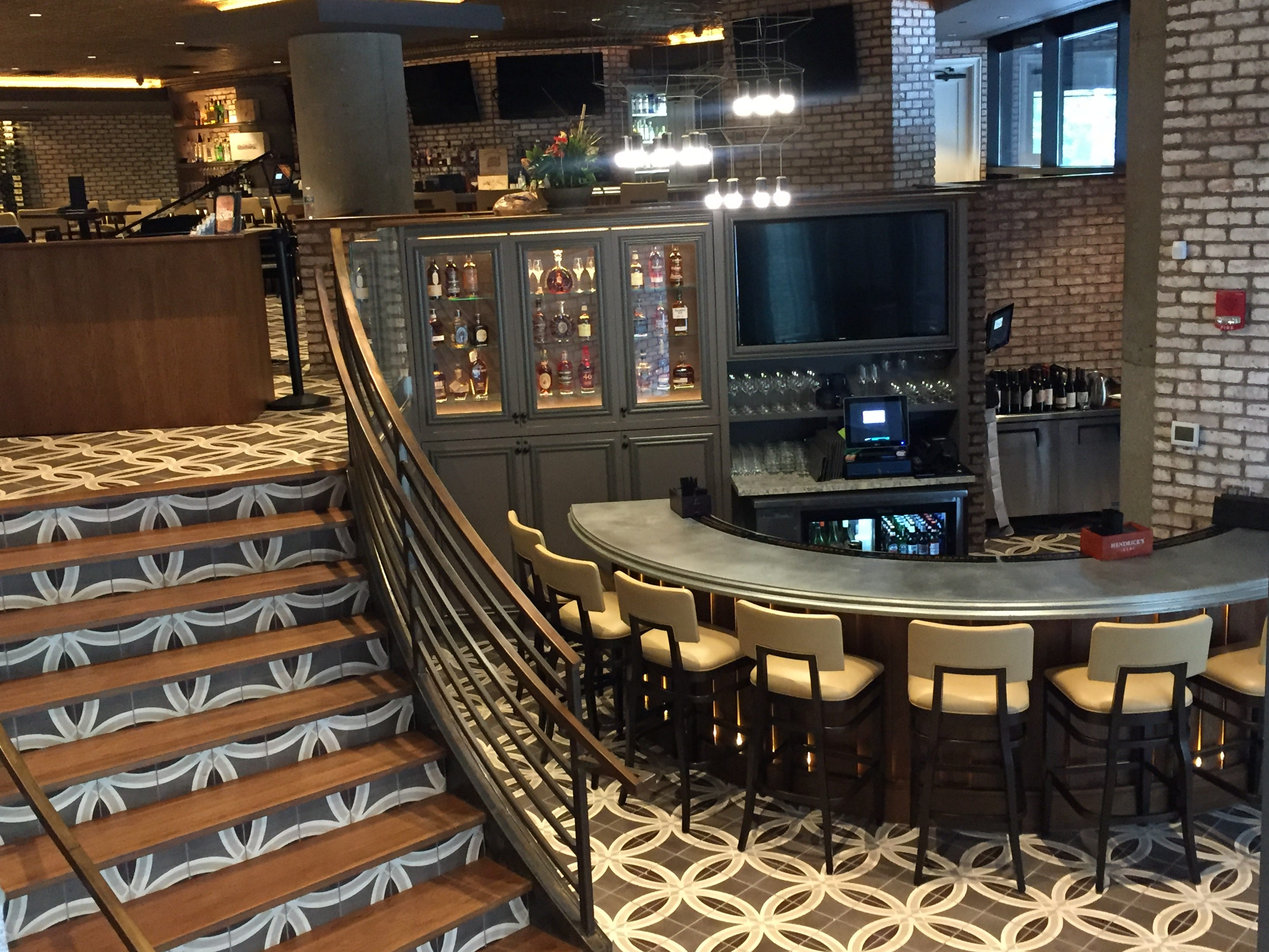 Just want a drink and a nibble? Pop into the first-floor bar for martinis, sea bass tacos and prime rib sliders at Tony's Steaks & Seafood at the former Colts Grille, 110 W. Washington St., Downtown Indianapolis.