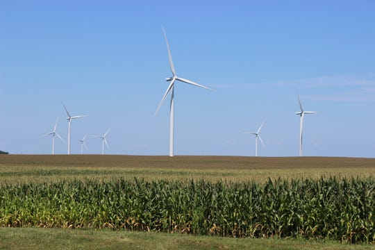A wind farm in Benton County.