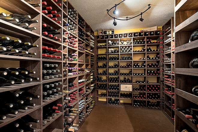 This Carmel home at 12221 Leighton Court in Westclay Village features a climate controlled wine cellar in the basement.