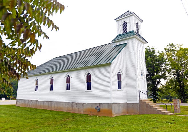 The First Baptist Church in West Baden was built by the African American workers from the resorts at French Lick and West Baden. The church has been saved and is undergoing a renovation. August 24, 2018.