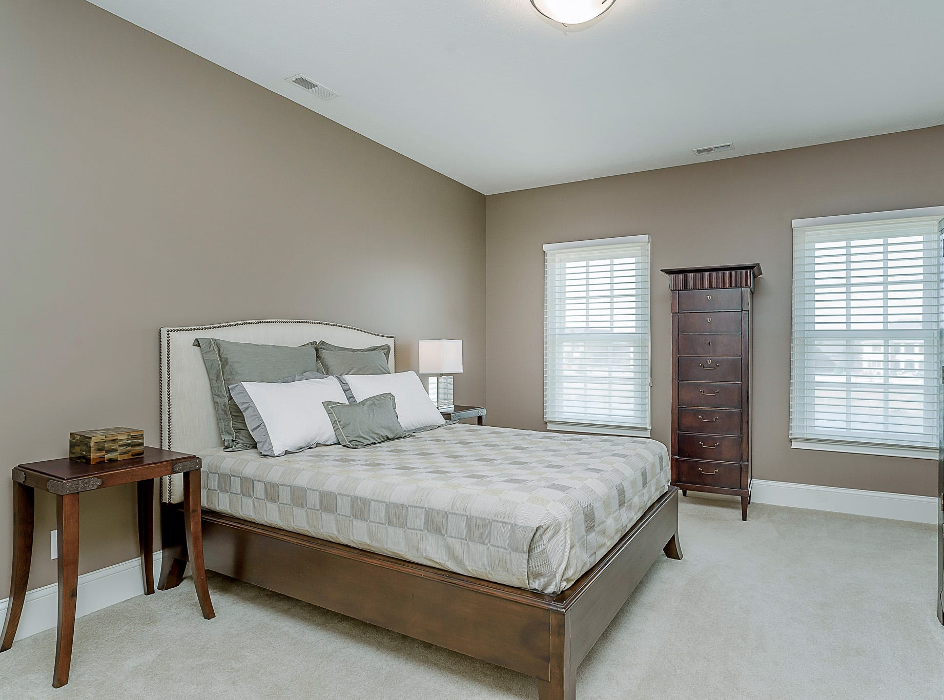 Bedroom on the second floor which also features a walk-in closet and access to Jack and Jill bathroom.