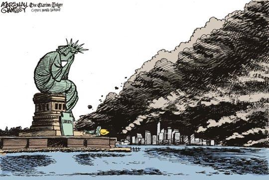 Cartoon from 9/12/2001