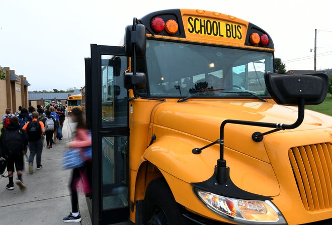 A Blount County Schools bus driver was suspended from her job Monday after threatening suicide last week.