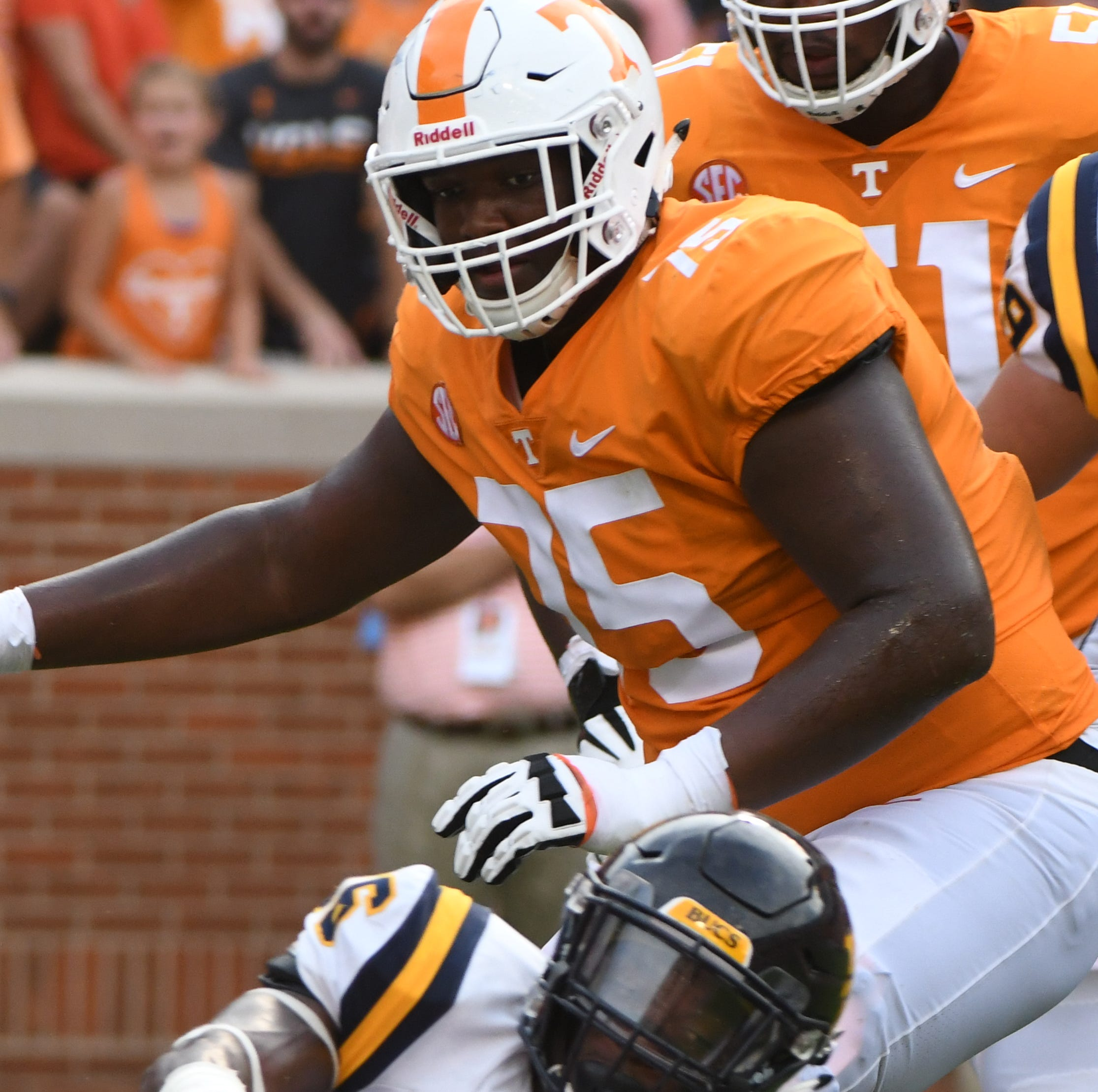 Tennessee offensive line moving up in SEC East rankings