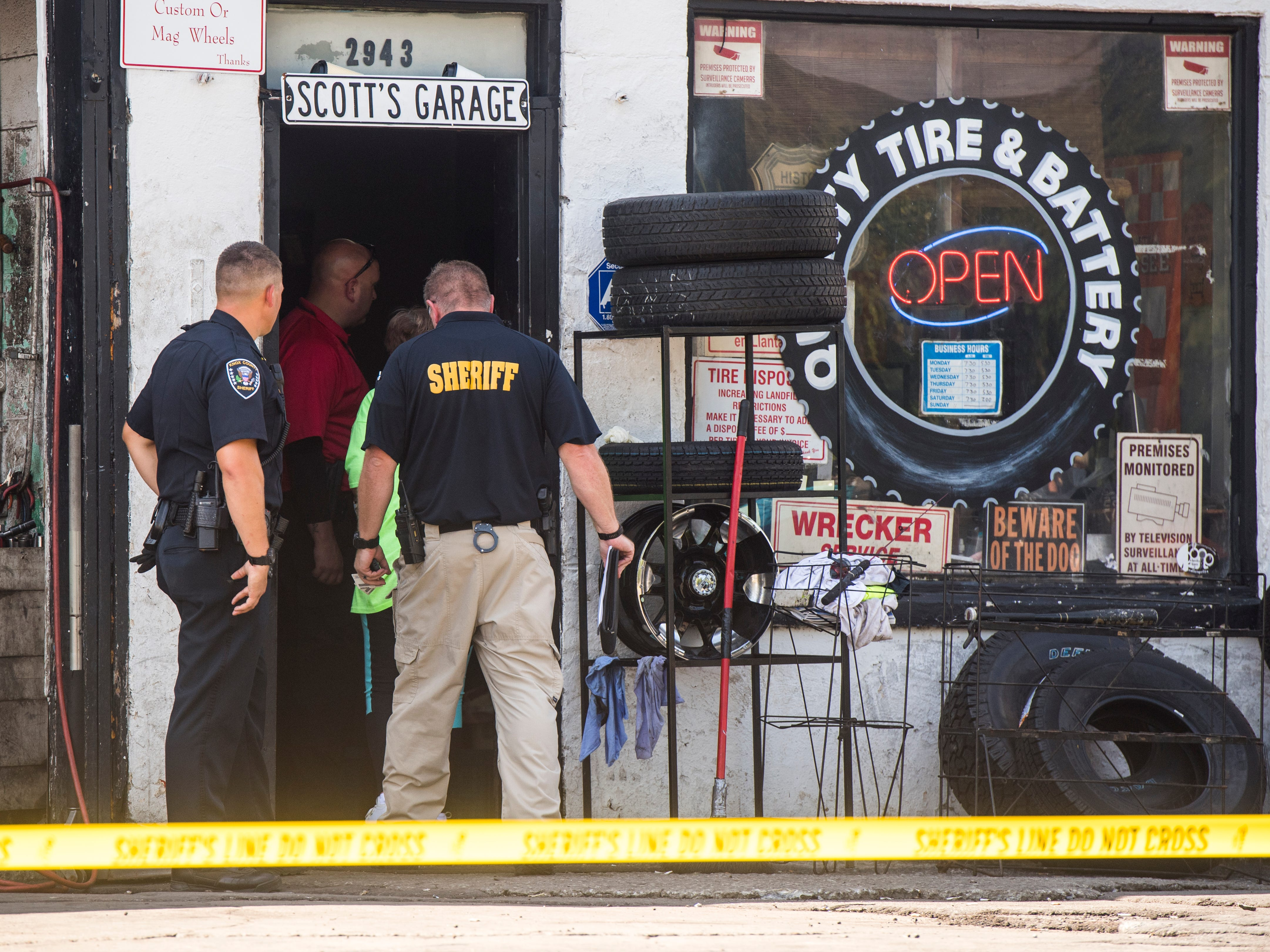 The Knox County Sheriff's Office are searching the Quality Tire & Batteries shop at 2943 N. Central in Knoxville on Wednesday, September 12, 2018, after a three month long investigation into EBT fraud and purchasing stolen merchandise.