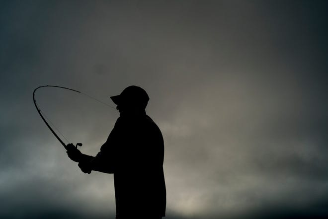 Professional fisherman Wesley Strader, of Spring City, casts his line while fishing for bass during a practice round ahead of the Bassmaster Eastern Open on Douglas Lake in Dandridge, Tennessee on Wednesday, September 12, 2018. The tournament is scheduled for Sept. 13-15, with daily takeoffs at 7 a.m. ET from Dandridge Public Boat Ramp.