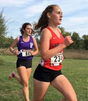 Pinckney's Courtney Jarema broke 19 minutes for the first time in three years in her first meet this season.