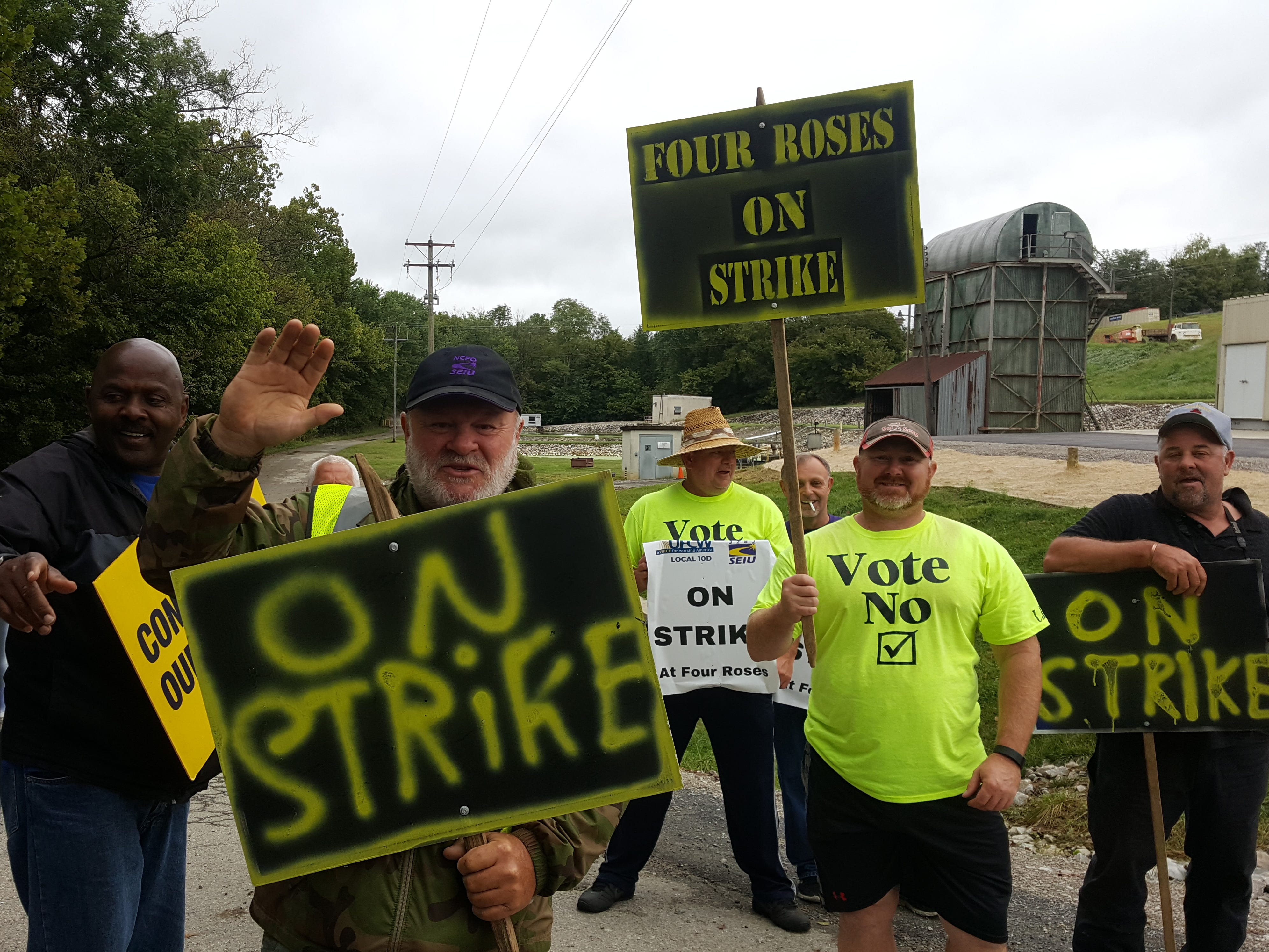 Union workers strike at Four Roses distillery just before bourbon fest