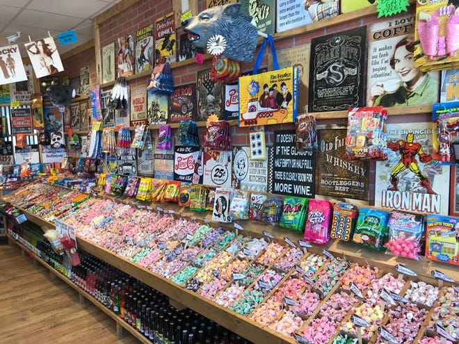 The bulk taffy area at the Rocket Fizz Grand Rapids location, owned by Mike and Jodi Pitsch.