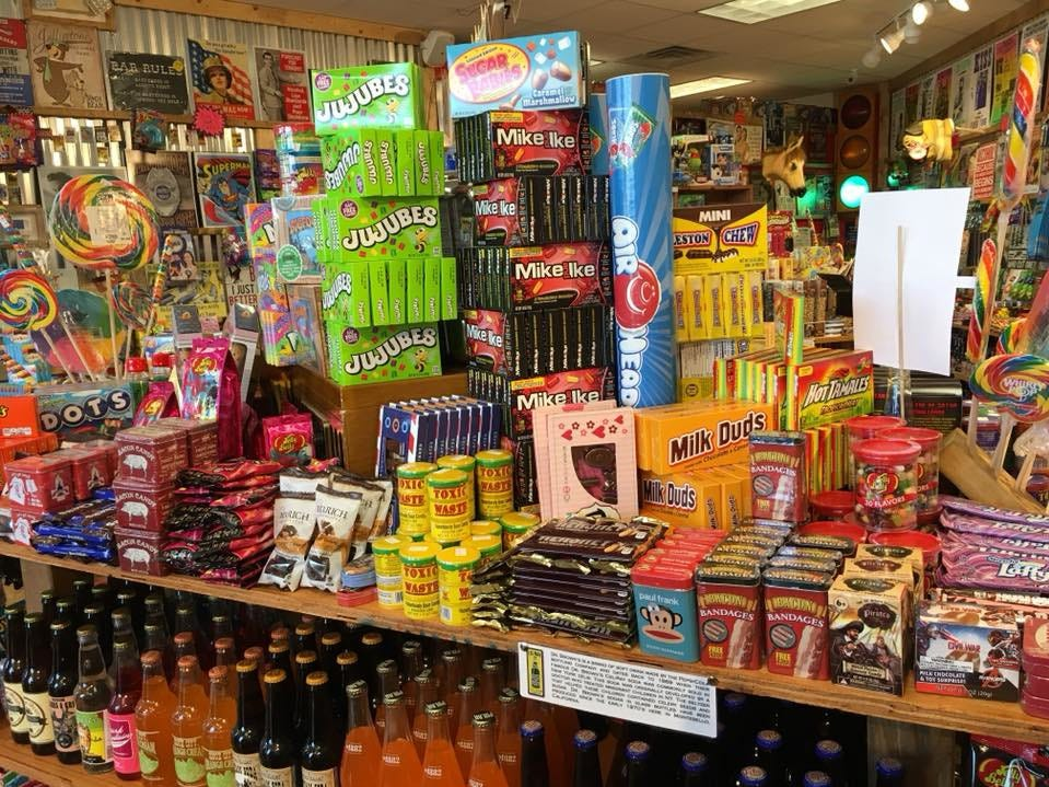 A selection of some of the nostalgic candy and soda at the Grand Rapids Rocket Fizz location, owned by Mike and Jodi Pitsch.