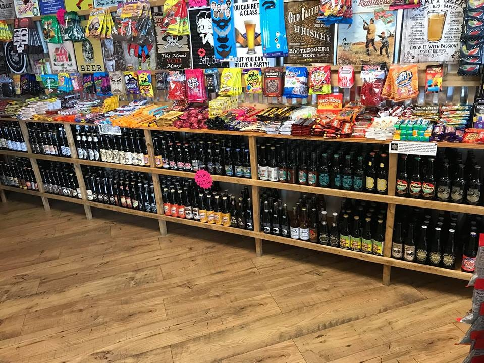 The root beer section at Rocket Fizz. This is the Grand Rapids location owned by Mike and Jodi Pitsch.