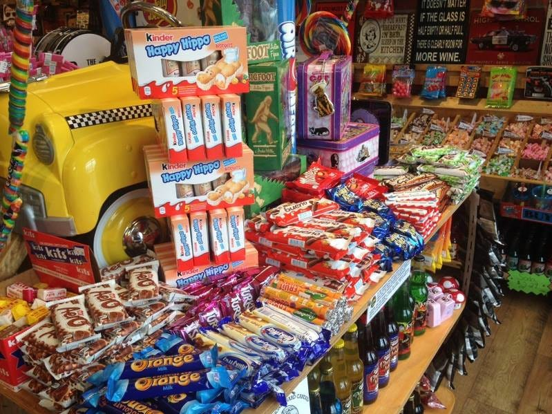 Eruopean candy carried by Rocket Fizz. Photo taken at the Grand Rapids location owned by Mike and Jodi Pitsch.
