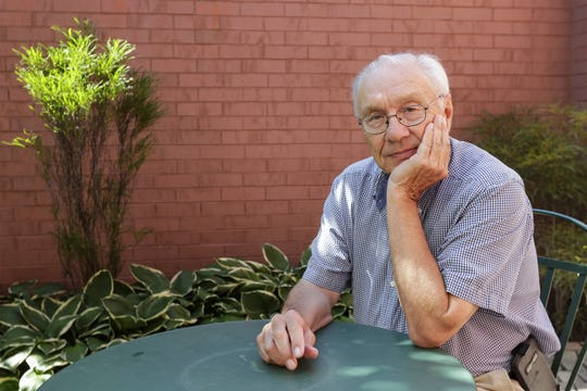 """R.T. """"Skip"""" Wallen sits for a portrait at the Rahr-West Art Museum Sept. 6 in Manitowoc."""