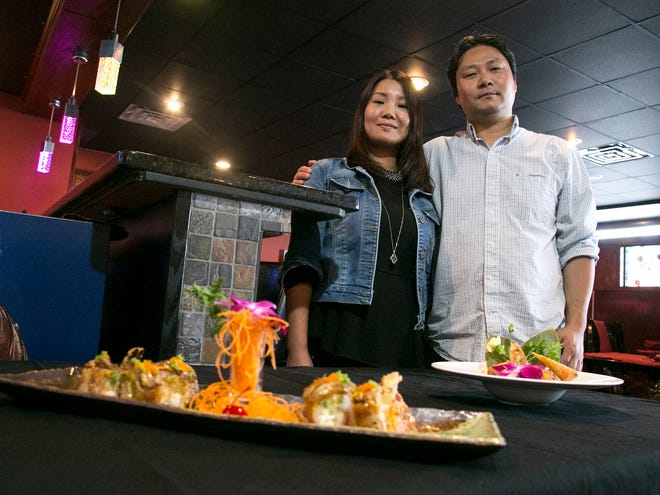Rachel Chen and her husband Paul Xiao are the owners of Wokano Japanese steak house in Ontario. The couple have recently moved the restaurant to a new location on West 4th Street on Wednesday.