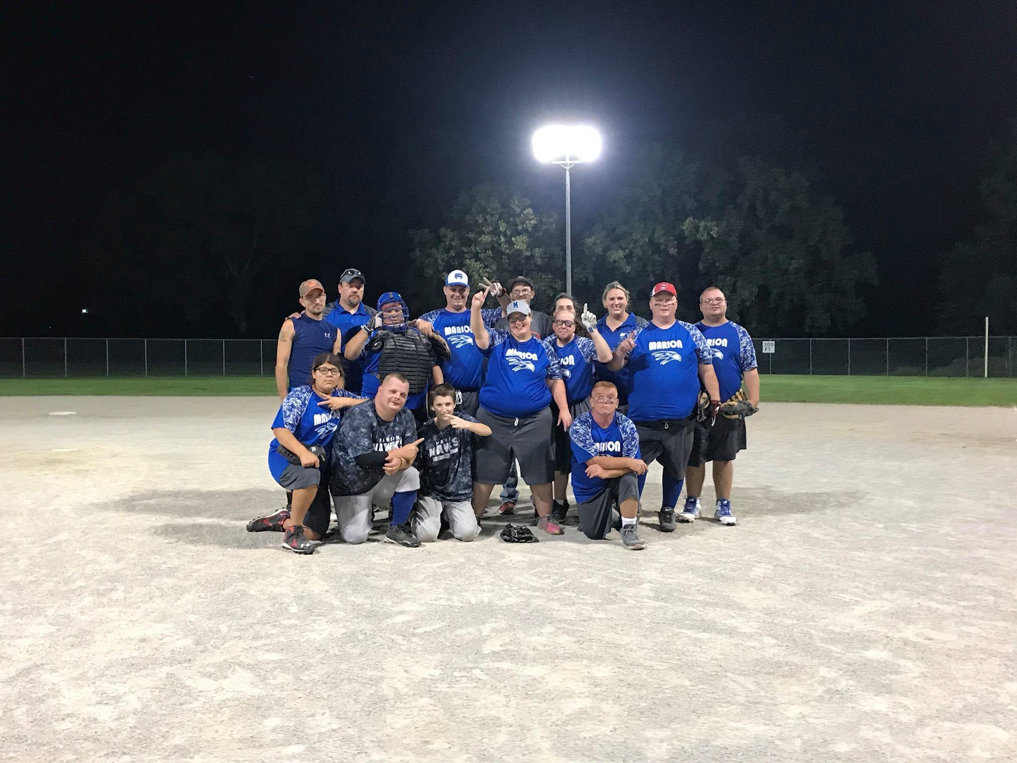 The Marion County Hawks softball team.