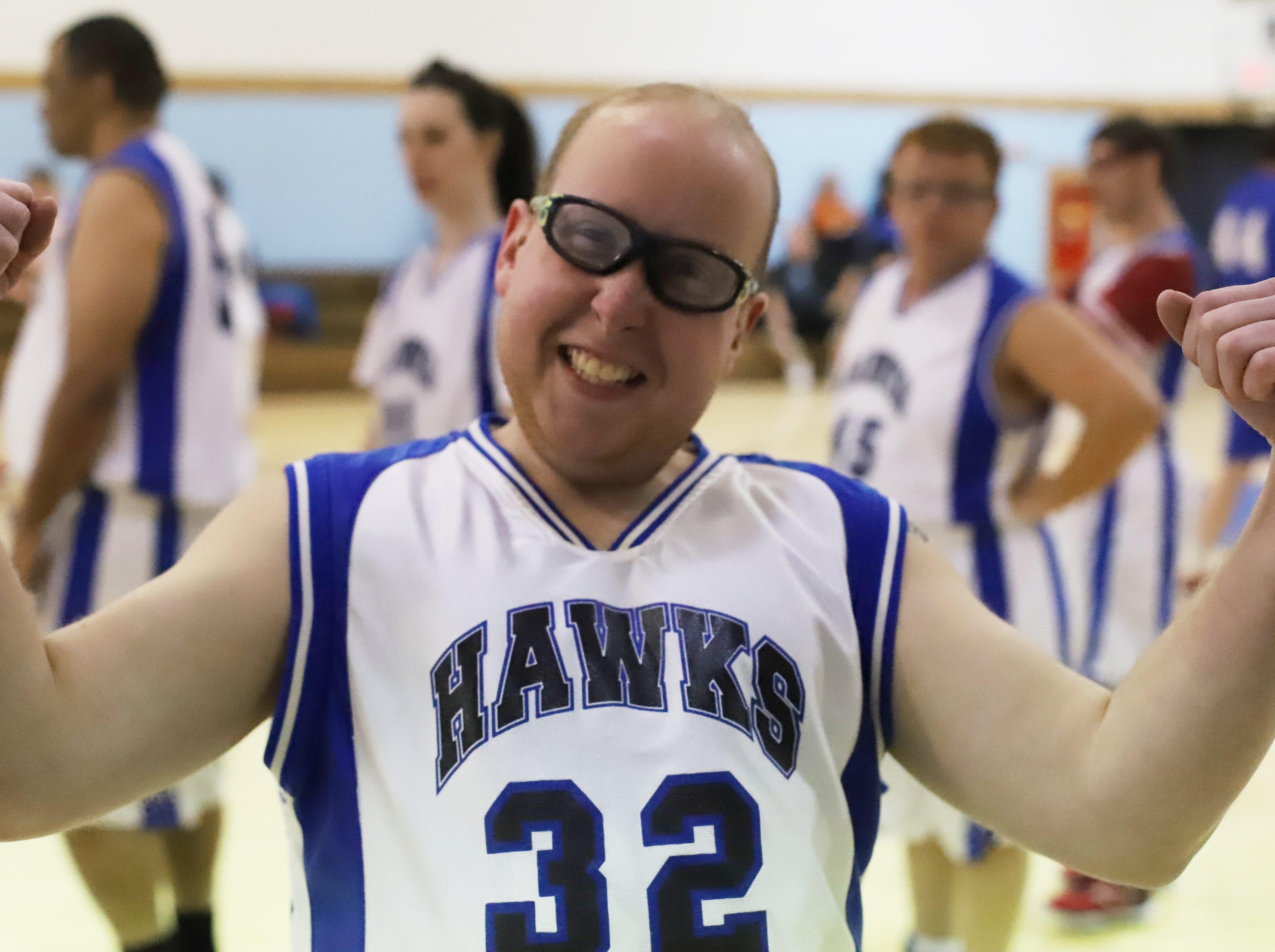 Varrick Glaze, on the Marion County Hawks basketball team.