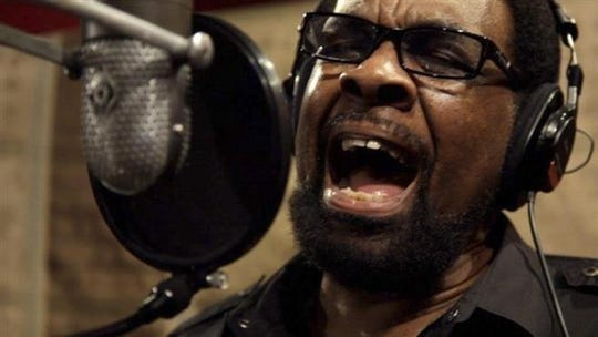 "William Bell sings during a 2014 Memphis recording session for the film ""Take Me to the River."""