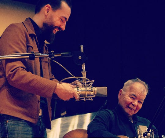 Memphis producer Matt Ross-Spang and singer-songwriter John Prine.