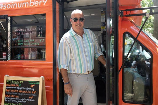 Andrew Zimmern poses for a portrait at Soi No. 9 in Memphis as seen on Big Food Truck Tip, Season 1.