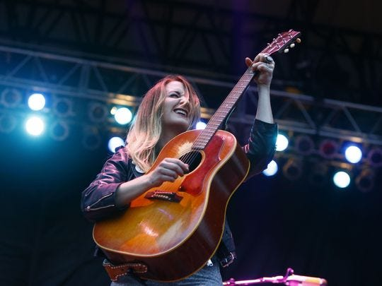 Margo Price performs at the 2018 Beale Street Music Festival.