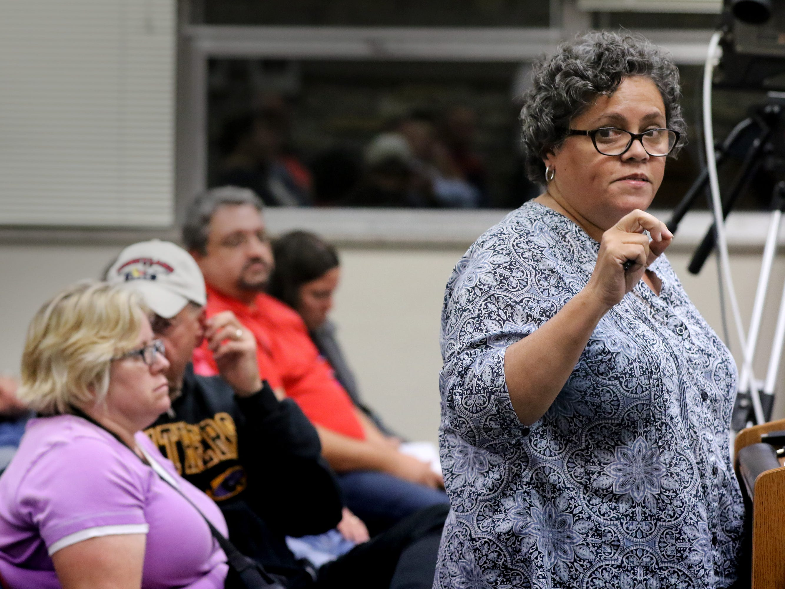 Wauwatosa resident Carmen Ortiz spoke in favor of a controversial proposal to consider a resolution on what steps would be taken if Wauwatosa is to consider becoming a sanctuary city. The issue brought out a huge crowd at  Wauwatosa's Government Affairs Committee on Sept. 11.