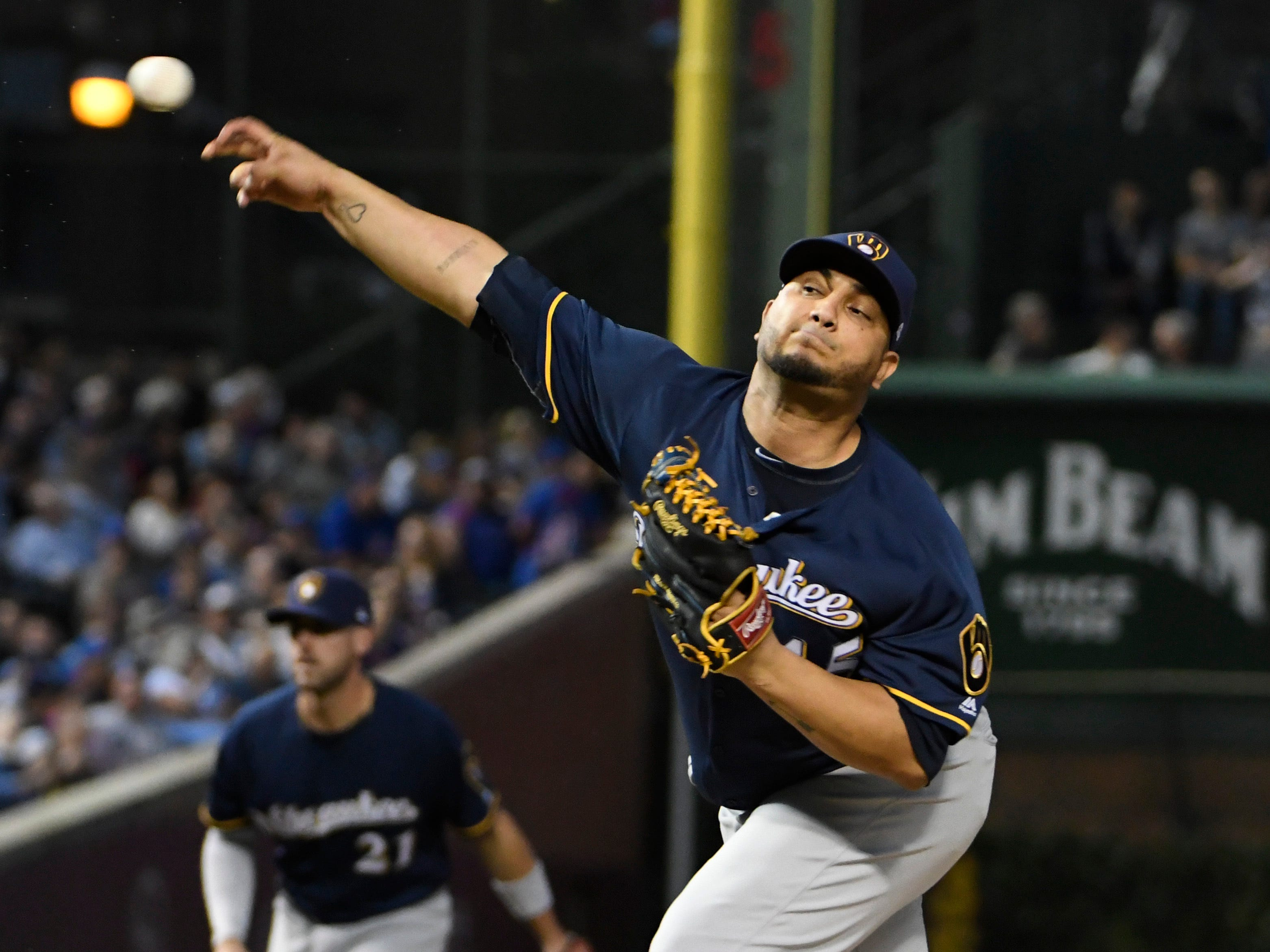 Brewers starting pitcher Jhoulys Chacin deserved a better fate on Tuesday night.
