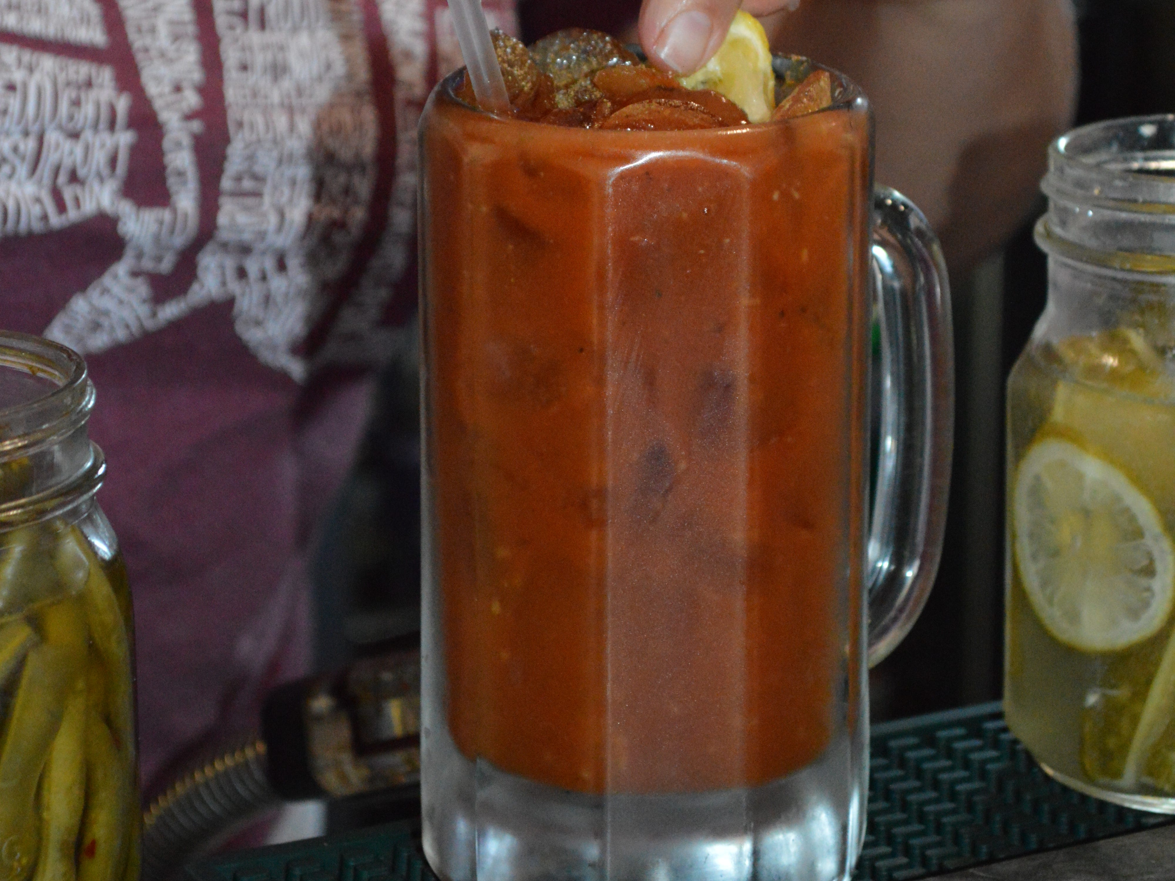 A homemade blended mix is used for bloody marys at Brew Berlin Pub & Grub.
