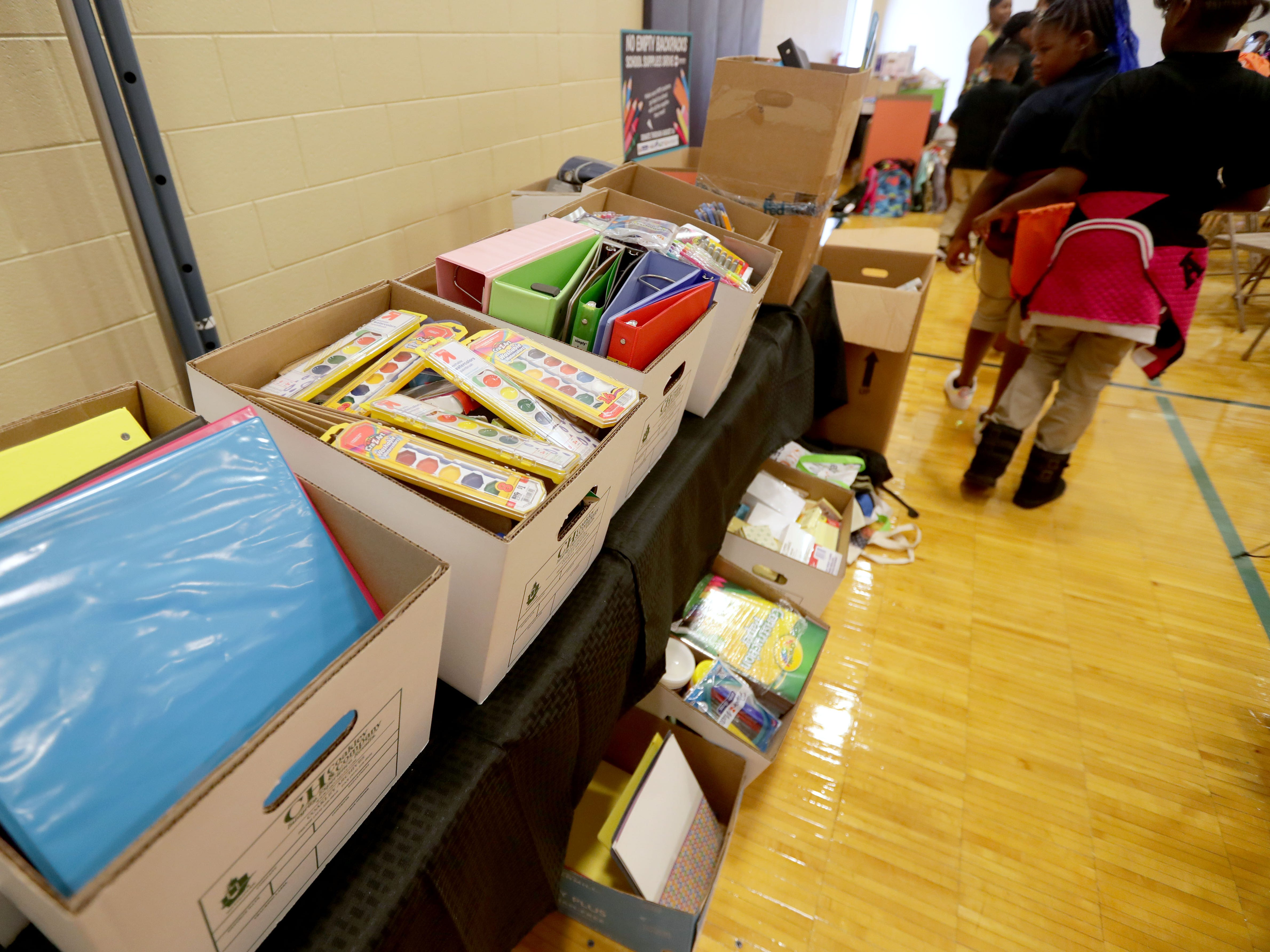 These are some of the many school supplies donated for students.
