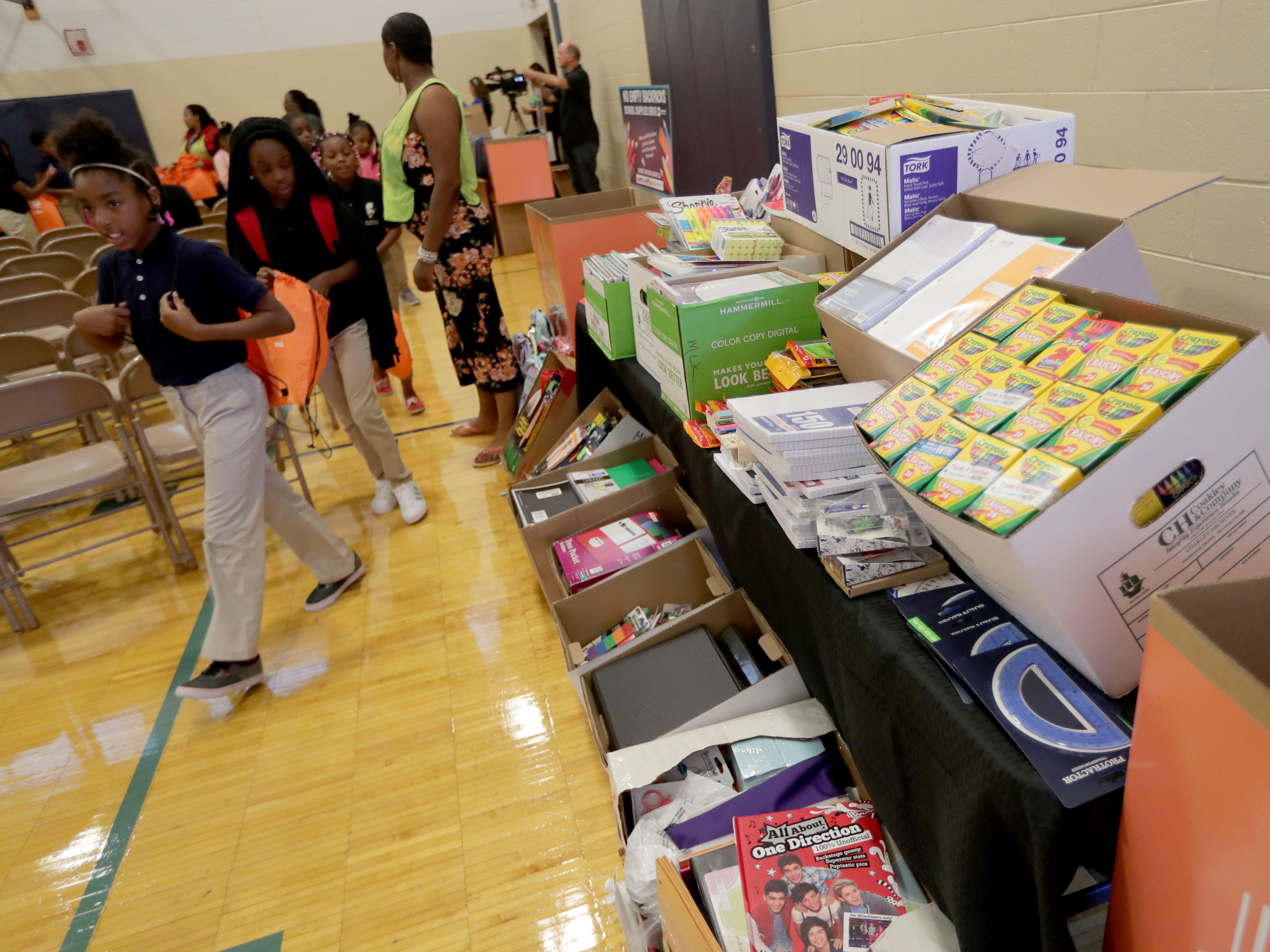 Thousands of school supplies were donated for students during the No Empty Backpacks drive.