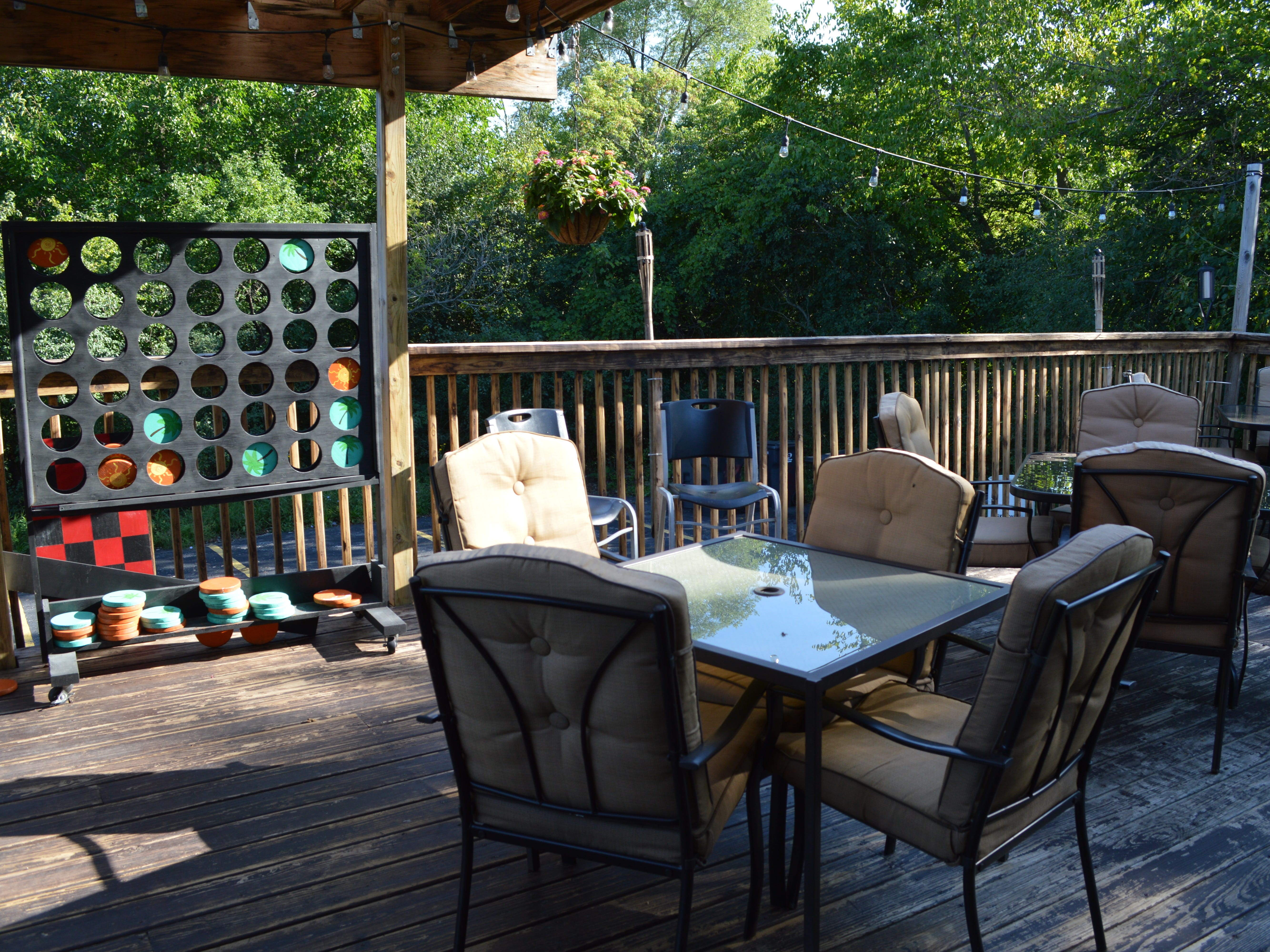 When Kimberly Mathy took over the establishment, she redid the deck.
