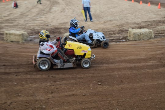 Saturday night's lawnmower races will include members of the Arkansas Lawnmower Racing Association driving their heavily modified lawnmowers.