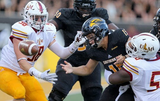 ULM's sack total increased to 34, which trailed only Troy (39) and Arkansas State (35) in the Sun Belt Conference. Defensive end Kerry Starks finished sixth in the league with five sacks and defensive end Donald Louis' (58) 4.5 sacks was good for 12th overall.