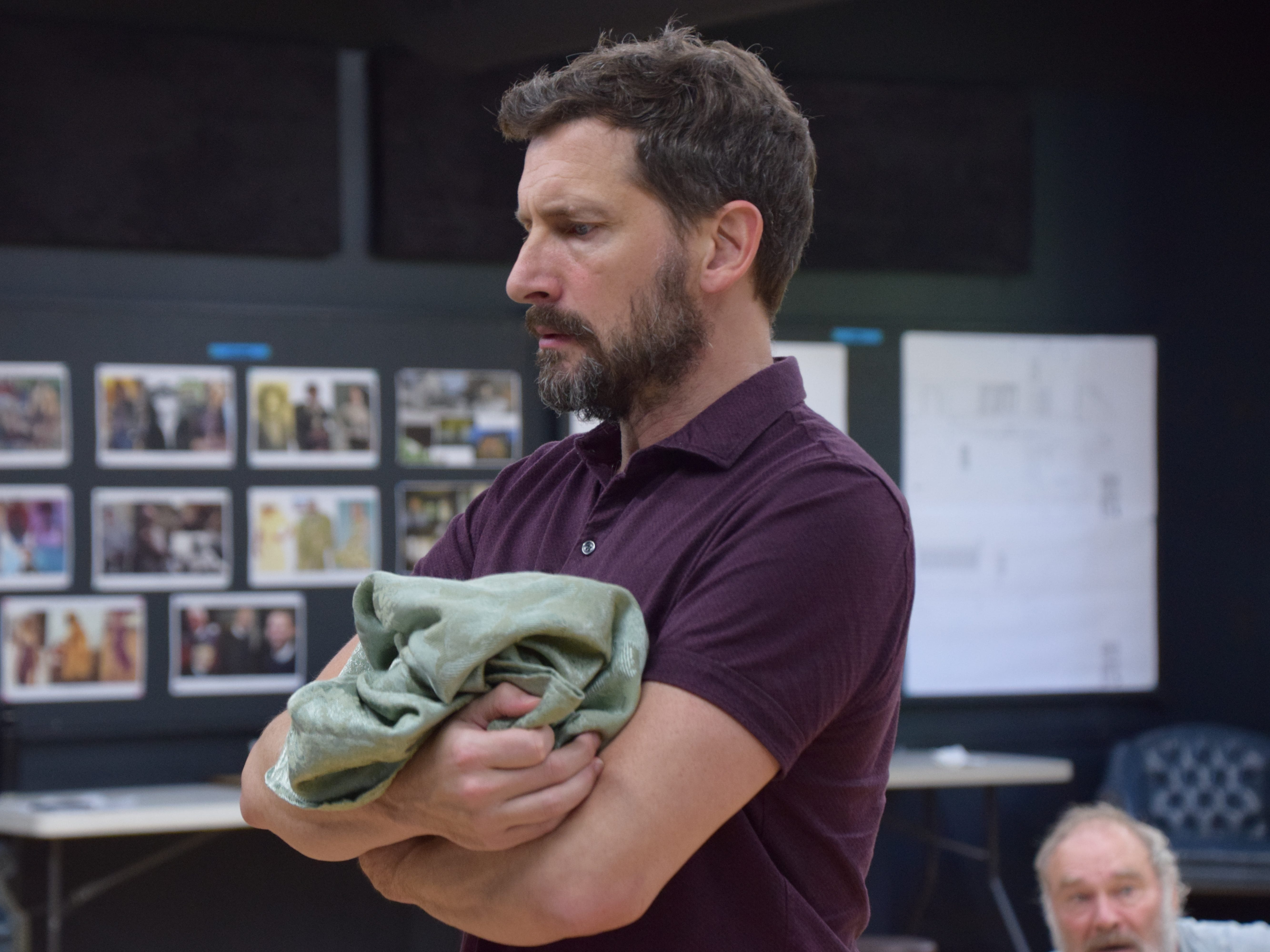 "Tilden (played by Anthony Marble) is at the center of a dysfunctional family in ""Buried Child.""  Sam Shepherd's Pulitzer-winning play will be presented at Shakespeare Theatre of NJ in Madison through October 7."