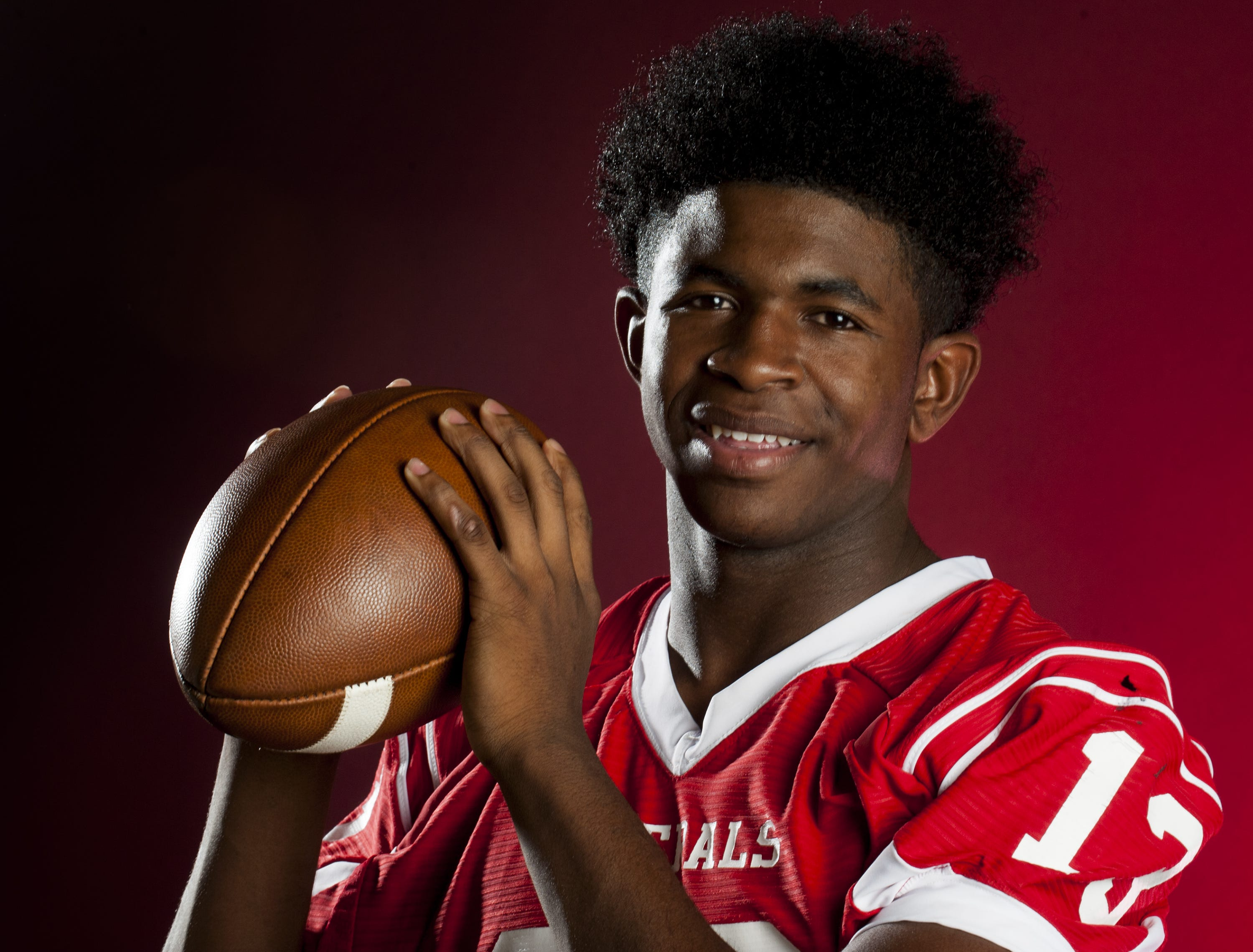 Montgomery Advertiser All-Metro 5A-7A Football Player of the Year, Shaquille Johnson of Lee High School, shown in Montgomery, Ala. on Thursday December 10, 2015.