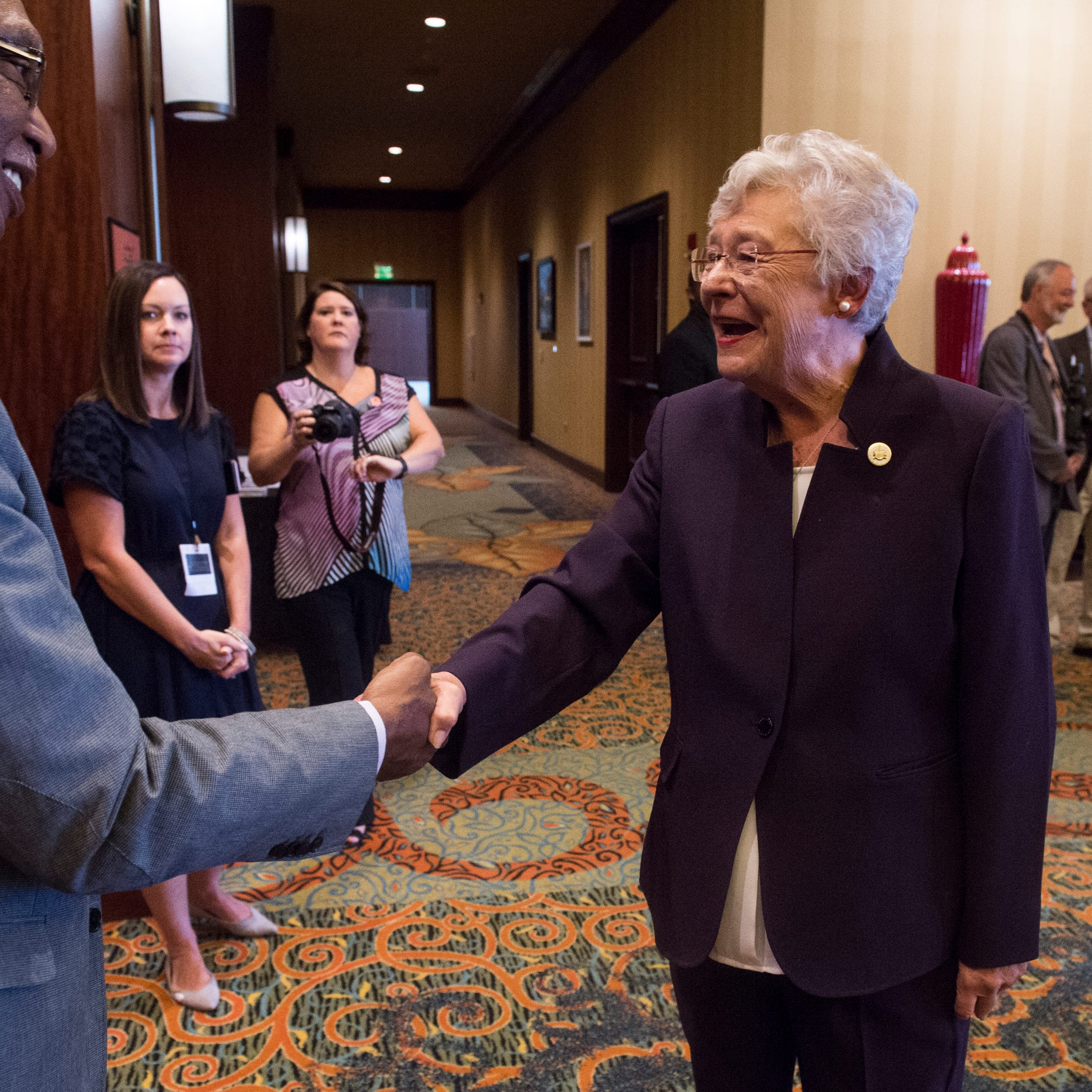 Gov. Kay Ivey meets with constituents during the Public Retiree Convention at Renaissance Hotel in Montgomery, Ala., on Wednesday, Sept. 12, 2018.