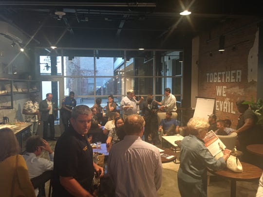 Residents and stakeholders gathered at Prevail Union on Tuesday, Sept. 11, 2018 to talk about the future of the city.