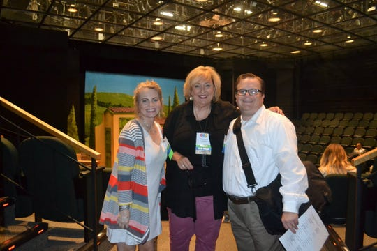 From left, Regan McClung, Kristy Meanor and Adam Miller at the ACT Fall Summit at Alabama Shakespeare Festival.
