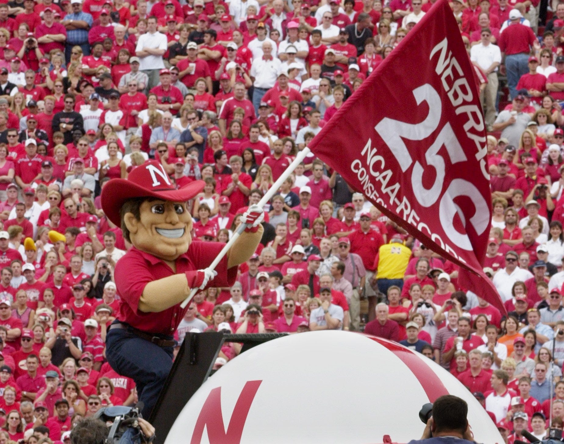 Nebraska set the NCAA consecutive sellouts record in 2003 and continues to extend it with every home game.