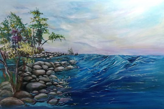 "An opening reception for ""A Nature Walk with God,"" featuring a collection of landscape paintings by regional artist Barbara Kuntz (such as this one, titled ""A Splash of Life"") will be Oct. 4 during the 2018 ArtsWalk."