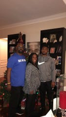 Khalil Brooks with his mom Karen Rowley-Brooks and dad Willie Brooks Jr.