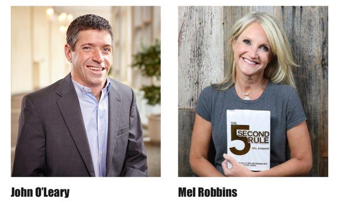 Motivational speaker John O'Leary and author Mel Robbins will speak in Murfreesboro Sept. 28.