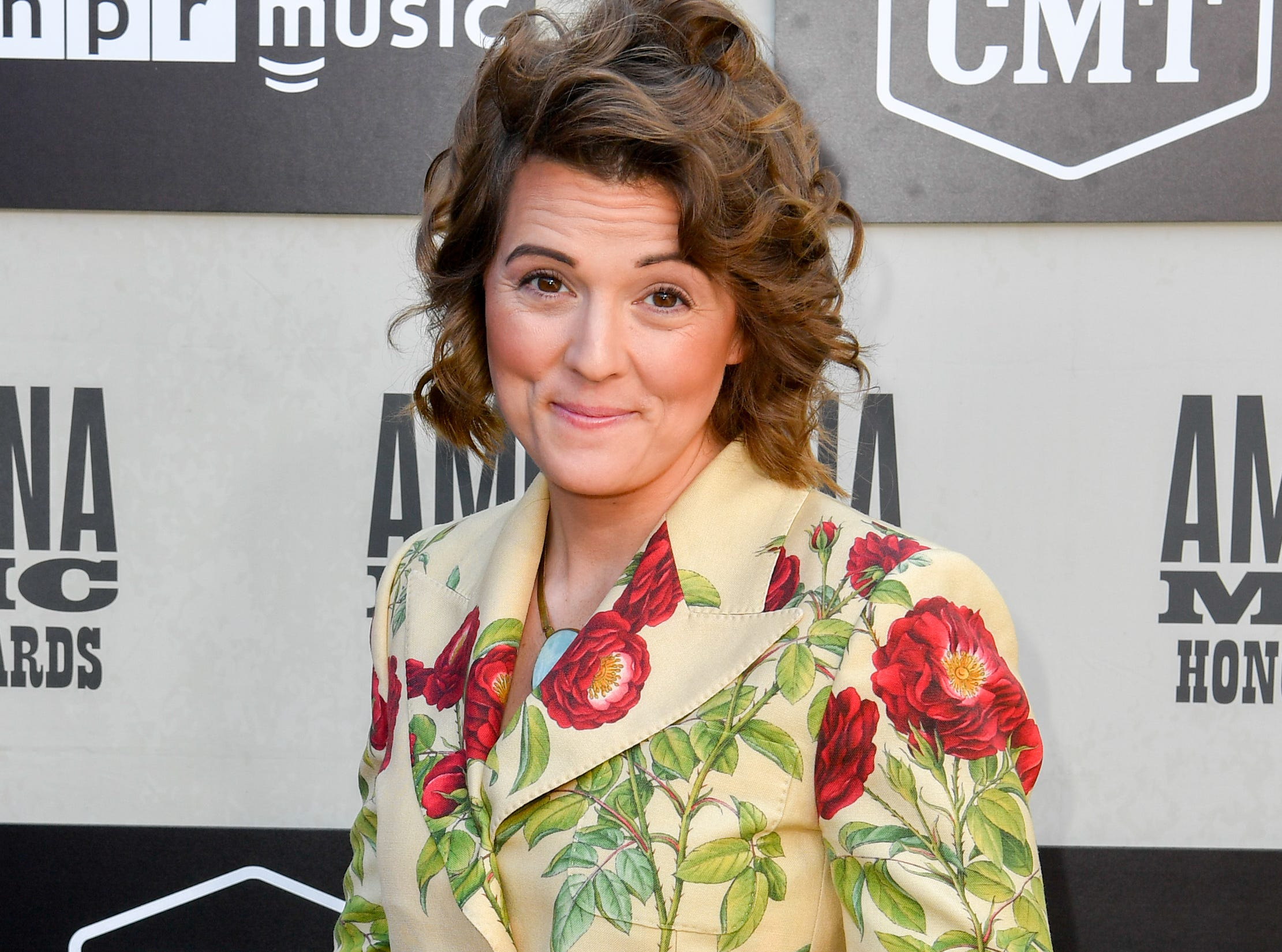 Brandi Carlile poses on the red carpet before the 2018 Americana Honors and Awards show at the Ryman Auditorium in Nashville, Tenn., Wednesday, Sept. 12, 2018.